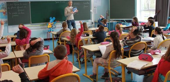 Intervention dans une classe d'école primaire