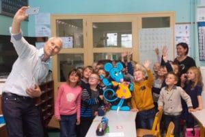 Selfie avec les écoliers