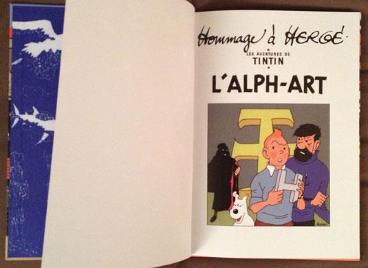 Page de garde de l'album Tintin et l'Alph-art