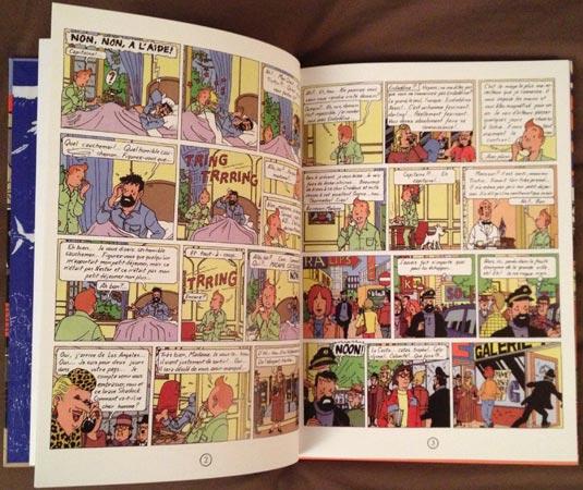 Pages intérieures de l'album Tintin et l'Alph-art