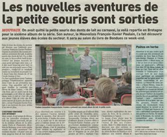 Parution de la Petite Souris en Bretagne