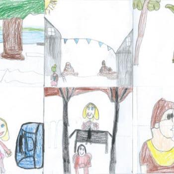 Dessin des enfants suite à la lecture du roman