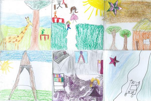 Enfant résume le roman en dessins