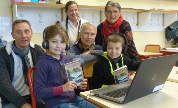 Enfants ayant enregistré le livre