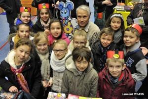 Salon du livre de Bondues avec de jeunes lecteurs