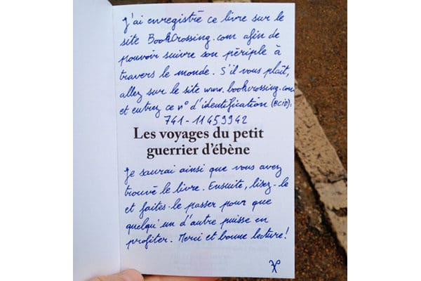 Message pour Book Crossing