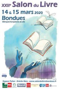 Affiche du salon du livre de Bondues 2020
