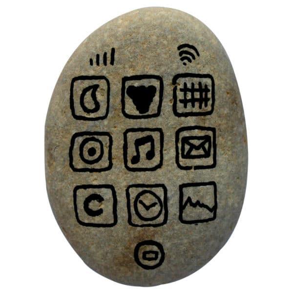 Téléphone de l'âge de pierre